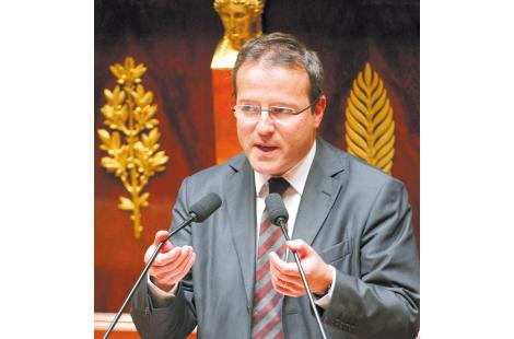 French High Commissioner for Active Solidarity Against Poverty Martin Hirsch speaks during a...